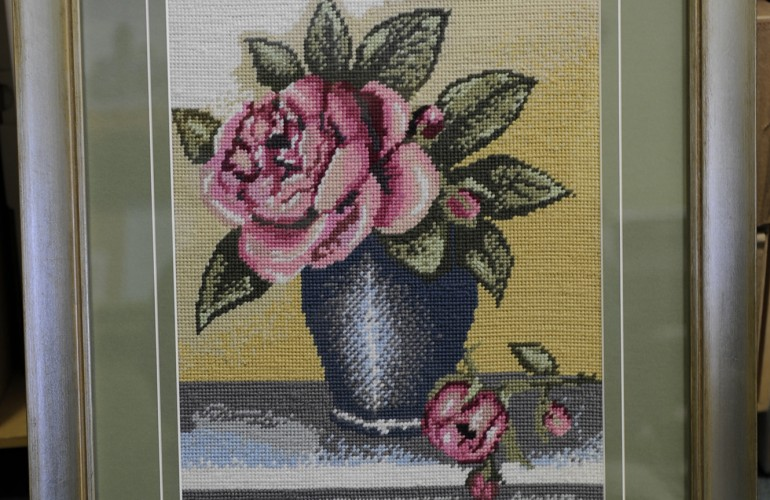 cross stitch and tapestry framing